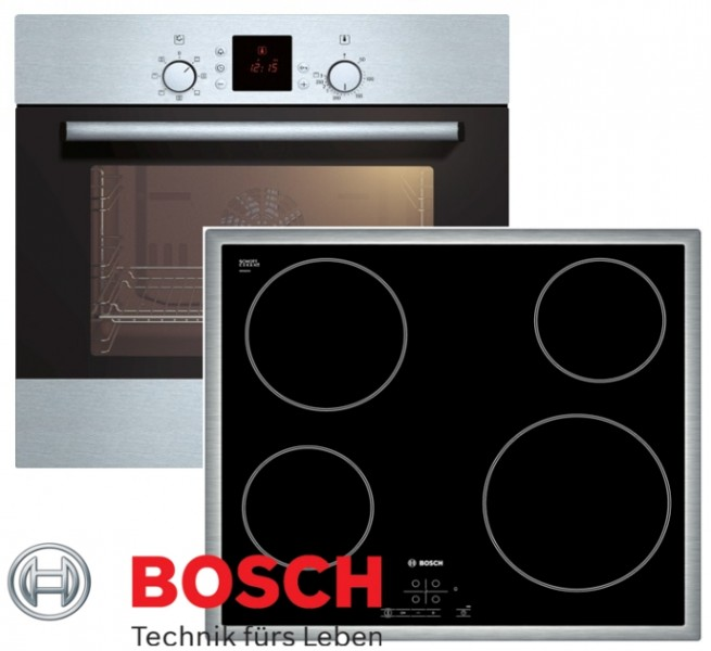 bosch herdset autark backofen umluft glaskeramik kochfeld 60cm touch kontrol. Black Bedroom Furniture Sets. Home Design Ideas