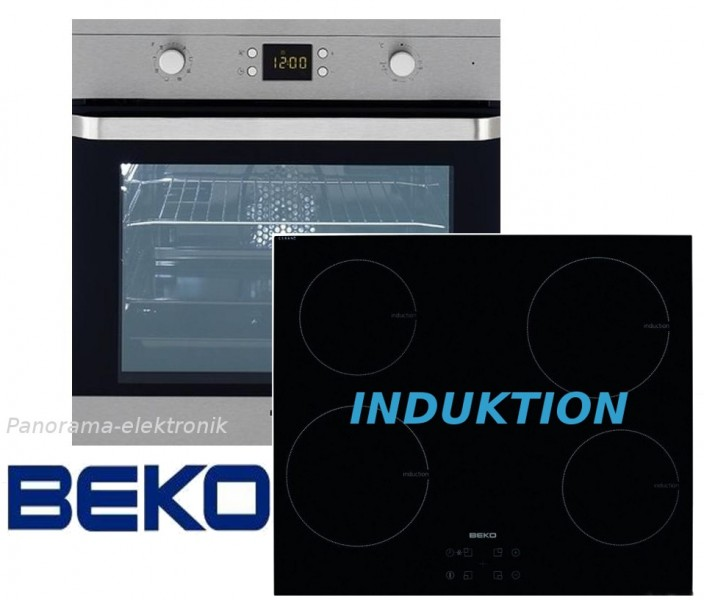 Beko herdset induktion autark einbaubackofen glaskeramik for Herd set induktion